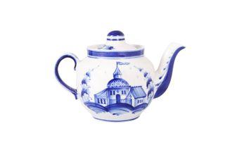 Dulevo porcelain / Teapot 350 ml Amber Gorodok