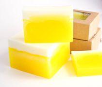 Pineapple Lemon whetstone 450 g - handmade glycerin soap