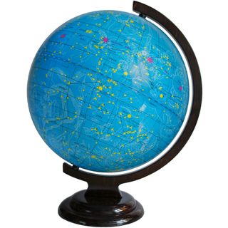 The celestial globe with a diameter of 320 mm on wooden stand