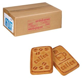 """YASHKINO / Cookies """"For coffee"""", sugar, with ice cream flavor, by weight, corrugated box, 4 kg"""