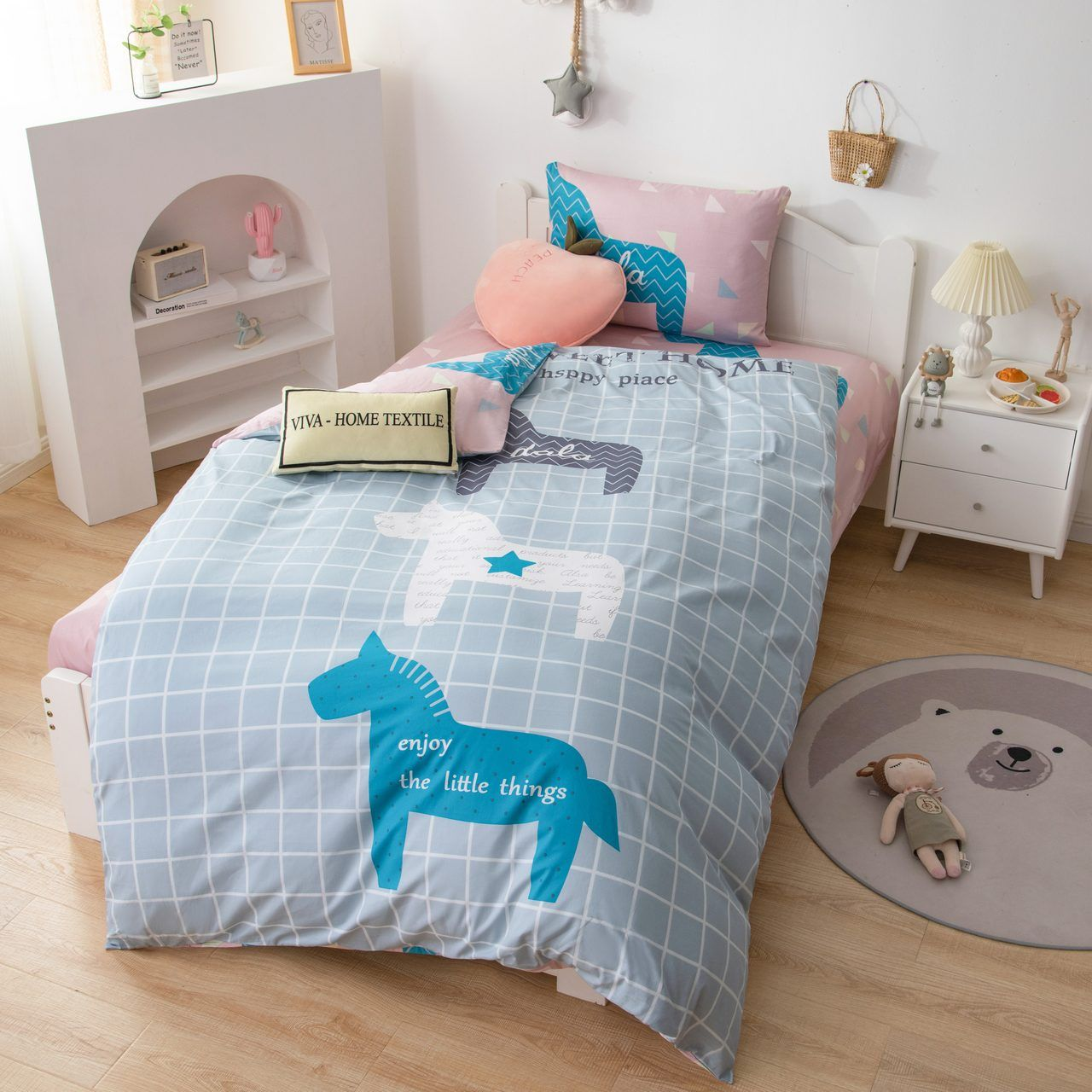 Sitrade / Sateen bedding set for children CD036, 1.5 sleeping pillowcase 50-70