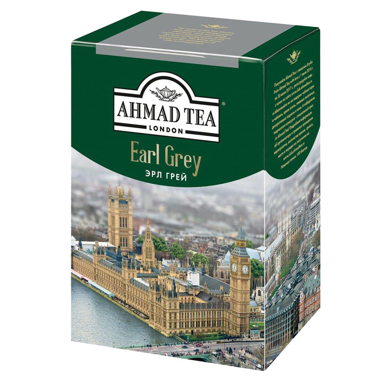 "AHMAD / Tea ""Earl Gray"" black leaf, with bergamot, cardboard box, 200 g"