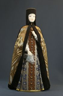 Doll gift. 'Riding' the costume of the Queen. The middle of the 17th century - Moscow.