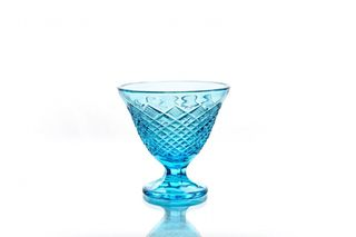 Crystal vase for cream turquoise