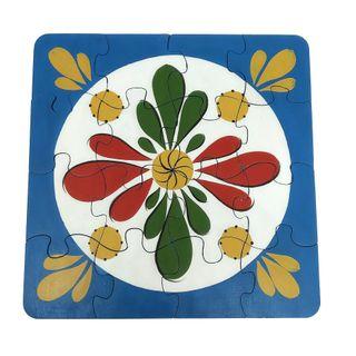 """Souvenir puzzles """"Vortex rosette"""" hand-painted"""