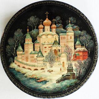 Kholui art lacquer miniature Ipatiev Monastery