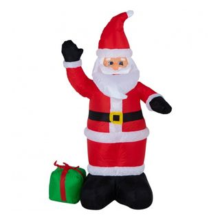 "Inflatable figure ""Santa Claus with a gift"" 120cm, internal lighting 3 LED"