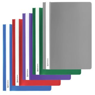 BRAUBERG plastic folder, A4, 130/180 µm, assorted