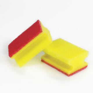 LYUBASHA / Profiled household scouring pads, foam rubber / abrasive, 35x55x85 mm, SET 5 pcs.