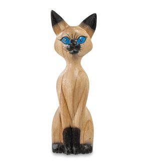 """Wooden figurine """"Kitten cunning"""" 25 cm"""