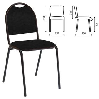 RS00L visitor chair, black frame, black fabric