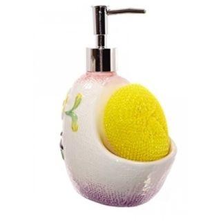 Soap dispenser with sponge