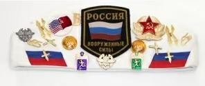 Matryoshka Factory / Army pilot cap with badges white