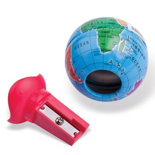 Sharpener MAPED (France) Globe, metal container in the shape of a globe