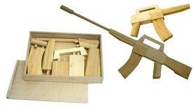Wooden machine gun
