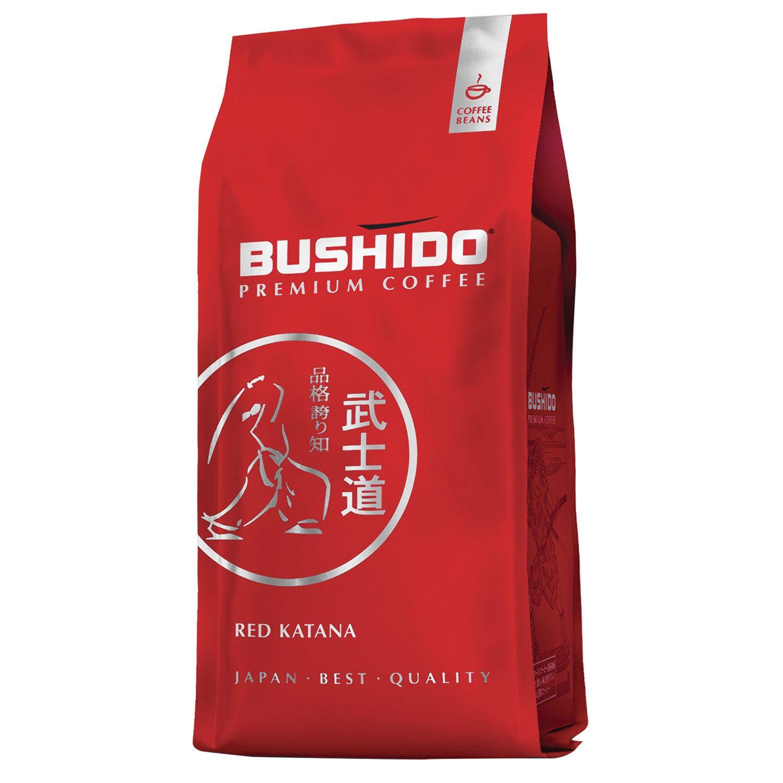 "BUSHIDO / Coffee beans ""Red Katana"", natural, 1000 g, 100% Arabica, vacuum packed"