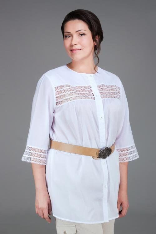 Blouse, womens lace long sleeve with casting