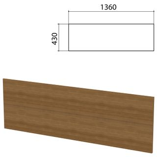 "Screen partition ""Budget"", 1360х16х430 mm, WITHOUT ACCESSORIES, French walnut"