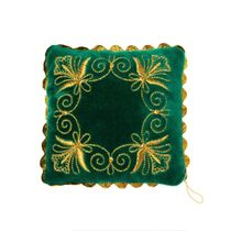 "Needle cushion ""Needlewoman"" emerald"