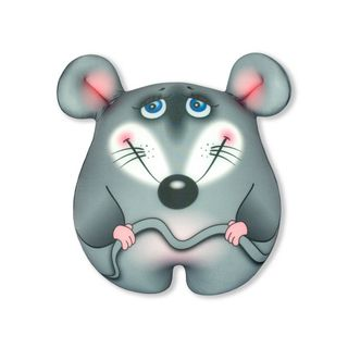 "Anti-stress toy ""Mouse-conscious"" small, grey"