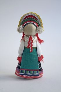 Doll gift. Women's costume of the 19th century. Orel province. Russia