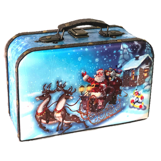 """New Year's gift Suitcase """"Lapland"""", a set of chocolates 750g."""
