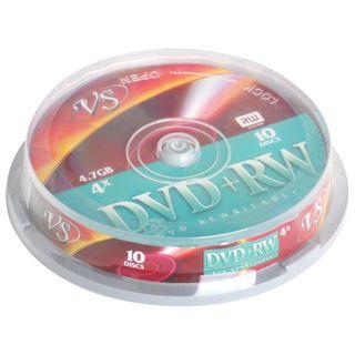 VS / Discs DVD + RW 4,7 Gb 4x Cake Box, SET 10 pcs.