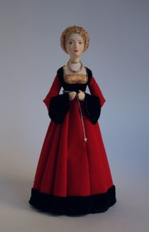 Doll gift. Costume rich townswoman. Nuremberg. the beginning of the 16th century.