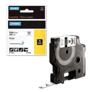 DYMO Rhino Label Printer Cartridge 9mm x 1.5m Heat Shrink Tubing Black Font Yellow Tube