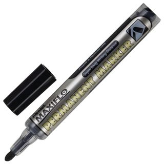 The marker is a permanent (indelible) PENTEL