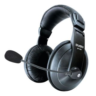 SVEN / Headphones with microphone (headset) AP-860MV, wired, 2 m, with headband, black