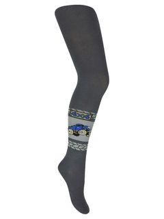 "Tights with a pattern ""Bigfoot"" dark gray"