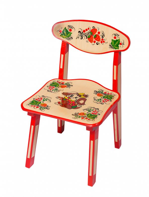 Wooden chair kids, a Dog, 1 life-size category