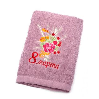 """Terry towel """"March 8"""""""