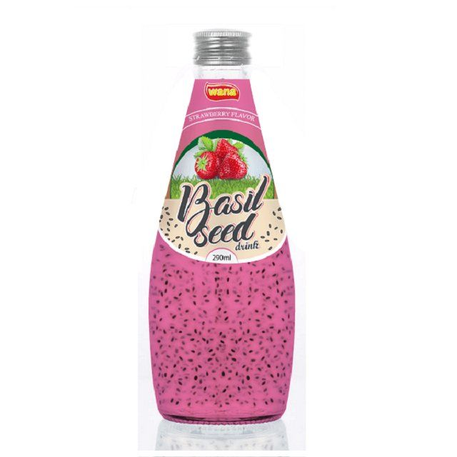 Vietnam Best Bottled Basil Seed Drink With Orange Flavor OEM Beverage Manufacturer