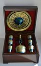 Souvenir cognac set of zirconium 'FIRM' in a gift box made of wood - view 6