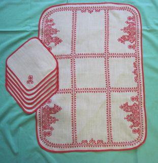 "Set napkins ""Rook"" Karelian patterns"
