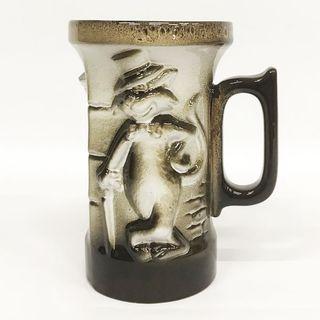 "Ceramic mug with a relief image ""Stylish cat"""