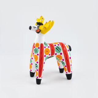 Clay figurine Deer 6 x 10 x 15, Dymkovo toys