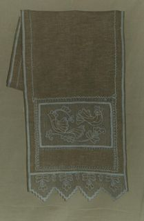 "Towel with openwork ""Bird of happiness"" Karelian patterns"