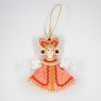 Christmas toy made of porcelain Butterfly, 12 cm