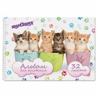 Sketchbook, A4, 32 sheets, comb, cover the cardboard, INLANDIA, 205х290 mm, Seals (1 kind)
