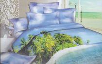 Satin bed linen 3D island