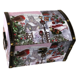 """New Year's gift """"Winter Birds"""" chest, set of sweets 900g."""