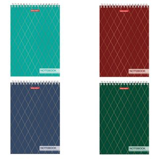 Notebook BIG FORMAT (200 x290 mm) A4, 80 sheets, comb, hard cardboard cover, hard substrate, cage, BRAUBERG,