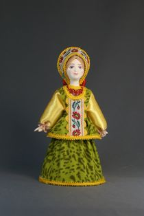 Doll gift porcelain. The Archangel's lips. Maiden costume.