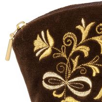 Velvet cosmetic bag 'Bouquet'