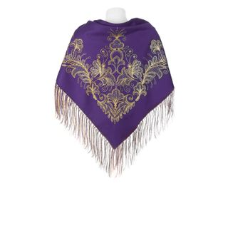 Scarf Butterfly purple