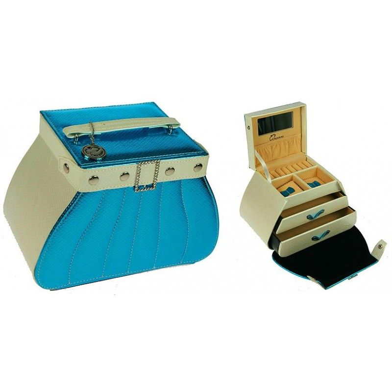 "The ""Jewelry Casket"" packaging has a blue capacity of 300g."