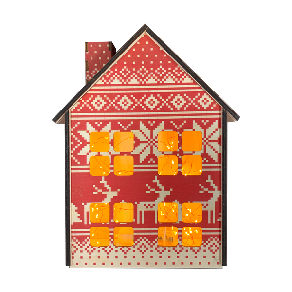 "Decorative ""Christmas cottage"" red"
